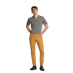 New 2017 Meyer MMX Trousers - Microstructure Chino - Ochre