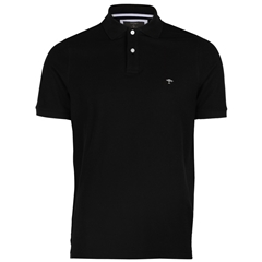 New 2017 Fynch-Hatton Polo Shirt - Black - Size M Only
