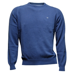 New 2017 Fynch-Hatton Superfine Cotton Crew Neck Sweater - Azure - Size M & XXL