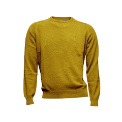 New 2017 Fynch-Hatton Superfine Cotton Crew Neck Sweater - Sunflower
