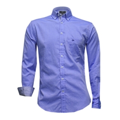 New 2017 Fynch-Hatton Shirt - Plain Navy Fine Oxford - Size M