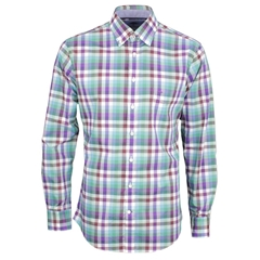 New 2017 Fynch-Hatton Cotton Shirt - Lilac Oasis - Size XXL