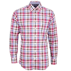New 2017 Fynch-Hatton Cotton Shirt - Raspberry Blue - Size XXL Only
