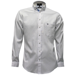 New 2017 Fynch-Hatton Shirt - Plain White Fine Oxford