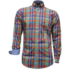 New 2017 Fynch-Hatton Shirt - Multicolour Check