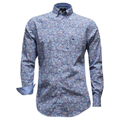 New 2017 Fynch-Hatton Shirt - Blue Flowers - XXL Only