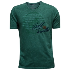 New 2017 Fynch-Hatton Garment Dyed T Shirt - Jade