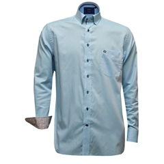 New 2017 Giordano Shirt - Sea Blue Oxford - Size XL Only