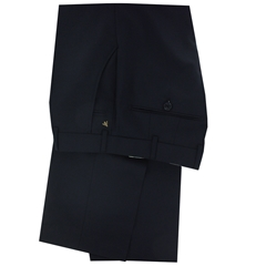 New 2017 Meyer Luxury Zegna Italian Wool Trouser - Navy - Online Exclusive