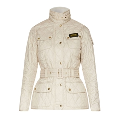 New 2017 Barbour International Ladies Quilted Jacket - Pearl Navy