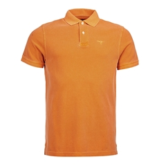 New 2017 Barbour Core Essential Mens Washed Sports Polo Shirt - Orange