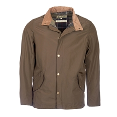 New 2017 Barbour Mens Classic Fit Spoonbill Waterproof Jacket - Dark Olive - Size M