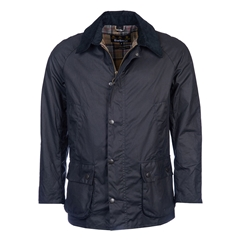 New 2017 Barbour Mens Tailored Fit Ashby Wax Jacket - Navy