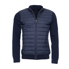 New 2017 Barbour International Mens Cadwell Zip Through Jumper - Navy