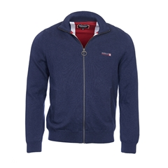 New 2017 Barbour International Mens Union Zip Through Jumper - Navy