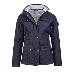 New 2017 Barbour International Ladies Buryhead Quilted Jacket - Navy