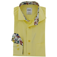 New 2017 Oscar Shirt - Yellow with Contrast Trim