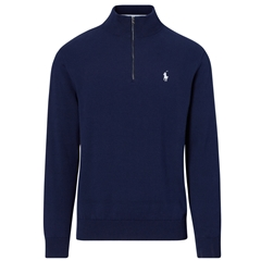 New 2017 Ralph Lauren Pima Cotton Half-Zip Sweater - Navy