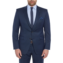 Digel Suit - Modern Fit 100% Italian Wool - Navy Neat Design