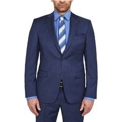 Digel Suit - Modern Fit 100% Italian Wool - Finest quality - Navy Neat
