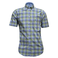 New for 2017 Fynch-Hatton Royal Cotton Short Sleeve Shirt - Oasis-Blue - Size M & XXL