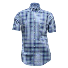 New for 2017 Fynch-Hatton Royal Cotton Short Sleeve Shirt - Turquoise - Size XXL