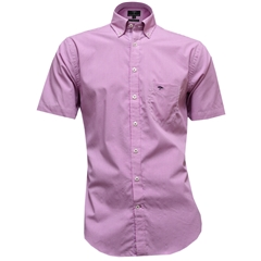 New for 2017 Fynch-Hatton Cotton Short Sleeve Shirt - Graph Check Berry