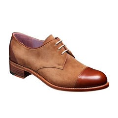 Barker Ladies Shoes Style: Kate -  Brown Calf / Snuff Suede