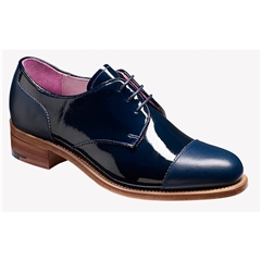 Barker Ladies Shoes Style: Kate -  Navy Calf / Patent