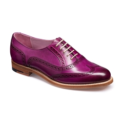 Barker Ladies Shoes Style: Fearne - Purple Hand Painted
