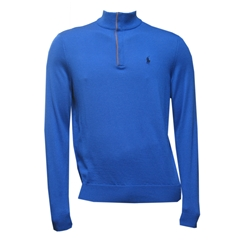 Ralph Lauren Half-Zip Merino Wool Sweater - New Periwinkle