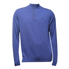 Ralph Lauren Half-Zip Merino Wool Sweater - Wild Berry Heaher