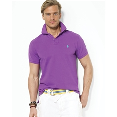 Ralph Lauren Cotton Polo - Flo Purple Cactus - Size M Only