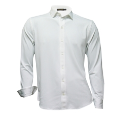 Ralph Lauren Shirt - White Pique Cotton - Size M, L & XXL Only