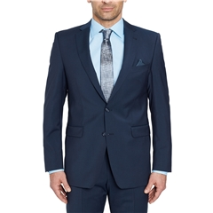 Digel Suit - Modern Fit 100% Italian Wool - Natural Stretch - Navy Blue
