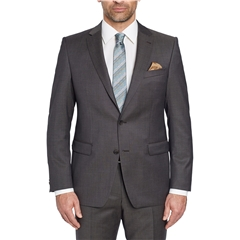 Digel Suit - Modern Fit 100% Italian Wool - Finest quality - Brown Neat