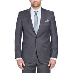 Digel Suit - Modern Fit 100% Italian Wool - Finest quality - Grey Neat