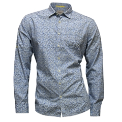 New 2017 Camel Active Shirt - Blue Grey Neat