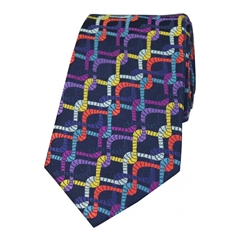 The Silk Tie Company - Intertwining Multi Coloured Ropes - 100% Luxury Silk Tie