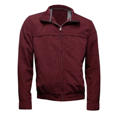 New 2017 Short Zip Jacket - Burgundy