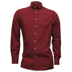 New For Autumn Hackett Brompton Shirt Cherry