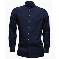 New For Autumn Hackett Brompton Shirt - Dark Blue