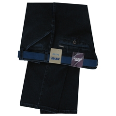 Autumn 2017 Meyer Trousers Denim Blue with Blue Detail  - Chicago 4512 19