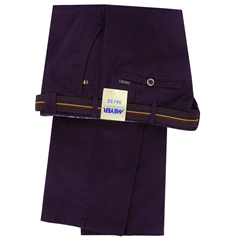 Meyer Trousers Cotton Deep Purple - Roma 5502 57