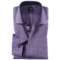 New Autumn 2017 Olymp Modern Fit Contrast Collar Shirt - Violet