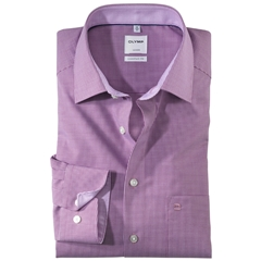 Olymp Comfort Fit Shirt - Fuchsia Check - 3190 64 95