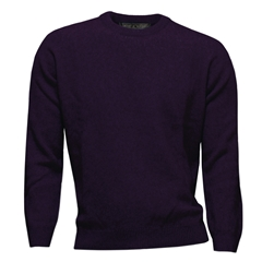 Noble Wilde Possum & Merino Crew Neck - Velvet Purple
