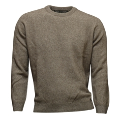Noble Wilde Possum & Merino Crew Neck - Oyster