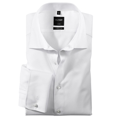 Olymp Modern Fit Shirt- Double Cuff - White - 1810 65 00