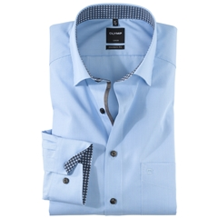 Olymp Comfort Fit Shirt - Buttons Under Collar - Blue - 0536 64 11